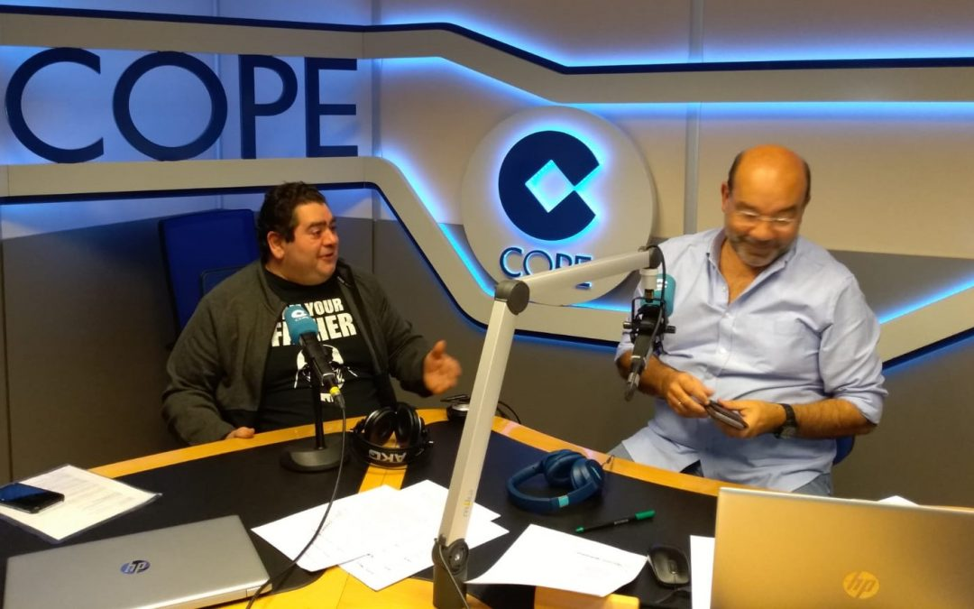 "Luis Rodríguez was interviewed during the ""Emprendedores"" (Entrepreneurs) part of the radio programme called ""La Linterna"" on COPE FM"